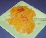 Spaghetti squash w/ garlic, olive oil and grape tomatoes