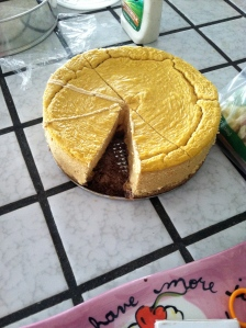 Last year's Atkins-approved dessert: Delicious pumpkin cheesecake.