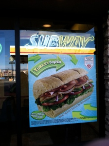 My first visit to the Subway in Camp Verde since I gave up carbs in 2011.