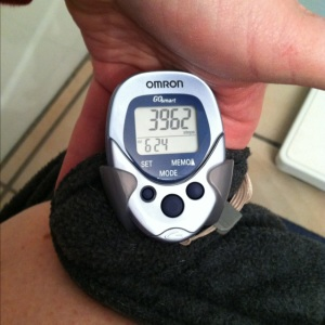 The readout after a 35-minute, 1.6-mile walk.