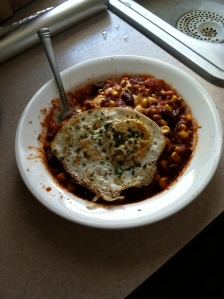 Veggie Chili w/ egg