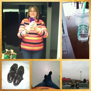 My day in a nutshell (or, playing with the PicStitch app on my phone).