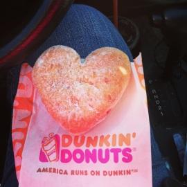 Heart-Shaped Jelly Donut