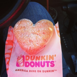 Heart-Shaped Jelly Donut