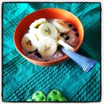 Banana PB Cookie Dough Overnight Oats