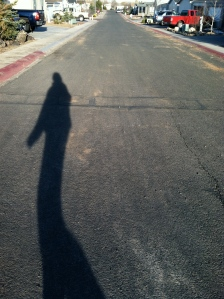 My shadow looked impossibly tall (and slender).