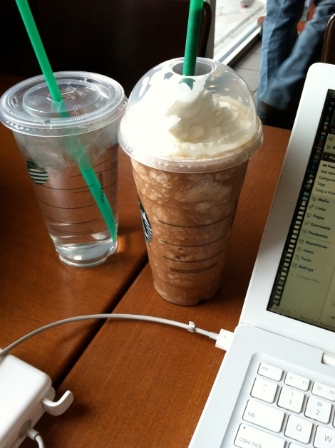As an occasional treat, a Frappuccino with whipped cream is fine.
