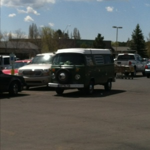 4. Spotted this VW camper in the parking lot and it brought back old memories. My parents had one of these, and we traveled around the country in it.
