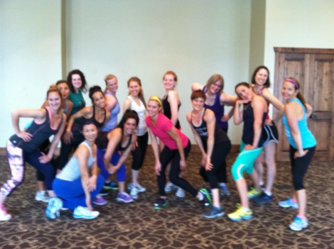 Post-Zumba group shot