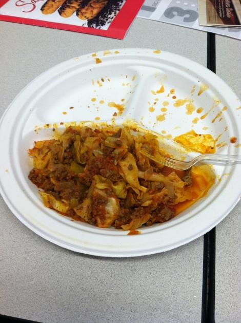 Noodle-less spaghetti