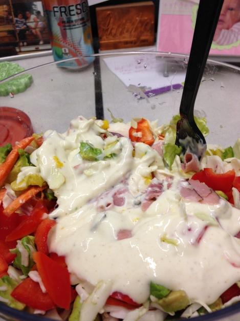 Big A$$ Salad, dressed
