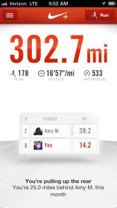 Nike+ Milestone: 300 miles