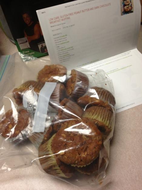 PB Dark Chocolate Breakfast Muffins