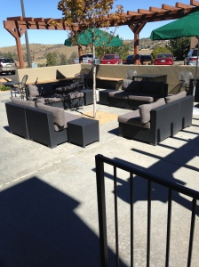 Outdoor seating. The couches aren't terribly comfy, though.