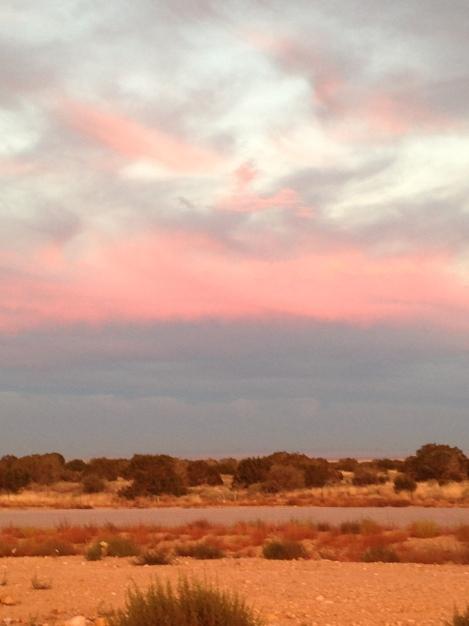 A beautiful fall sunset