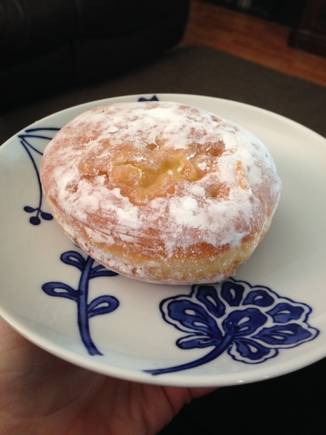 Plated donut