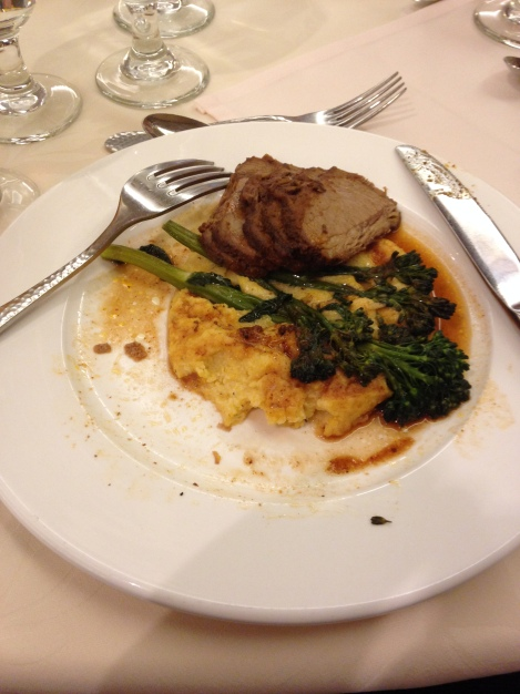Beef, Polenta and Broccolini