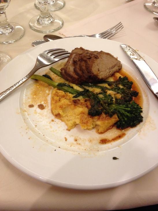 Beef, Polenta and Broccolini