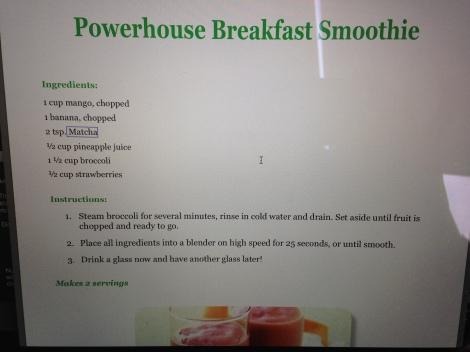 Recipe | Powerhouse Breakfast Smoothie