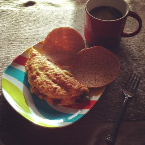 Veggie Omelet & toast